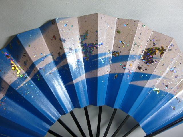 飾扇 能扇 舞扇 「青銀散らし」/日本舞踊 能楽 飾扇 a28_画像8