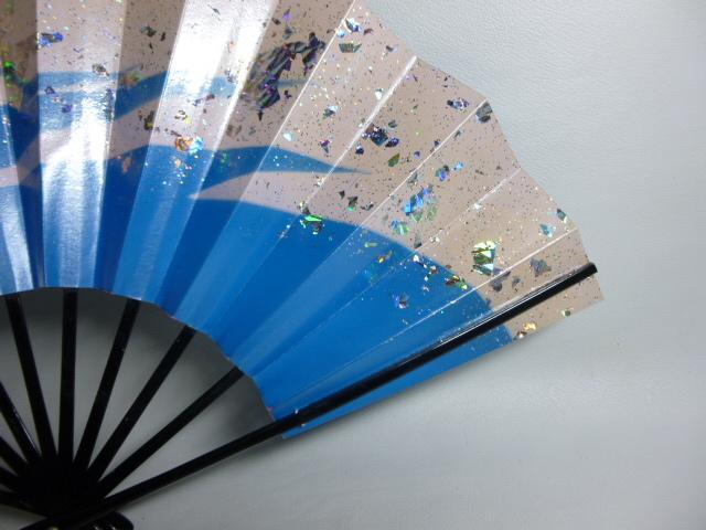 飾扇 能扇 舞扇 「青銀散らし」/日本舞踊 能楽 飾扇 a28_画像9