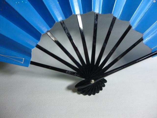 飾扇 能扇 舞扇 「青銀散らし」/日本舞踊 能楽 飾扇 a28_画像10