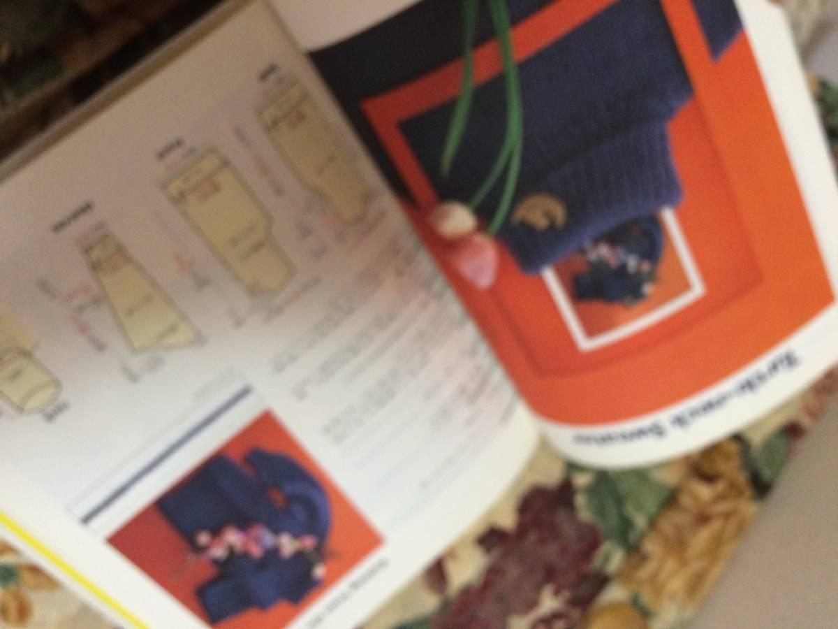 本★OSAMU'S HOW TO BOOK OSAMU HARADA KNITTING クロススティッチ セーター 制作本 手芸 縫物 編み物 ソーイング★レア_画像6