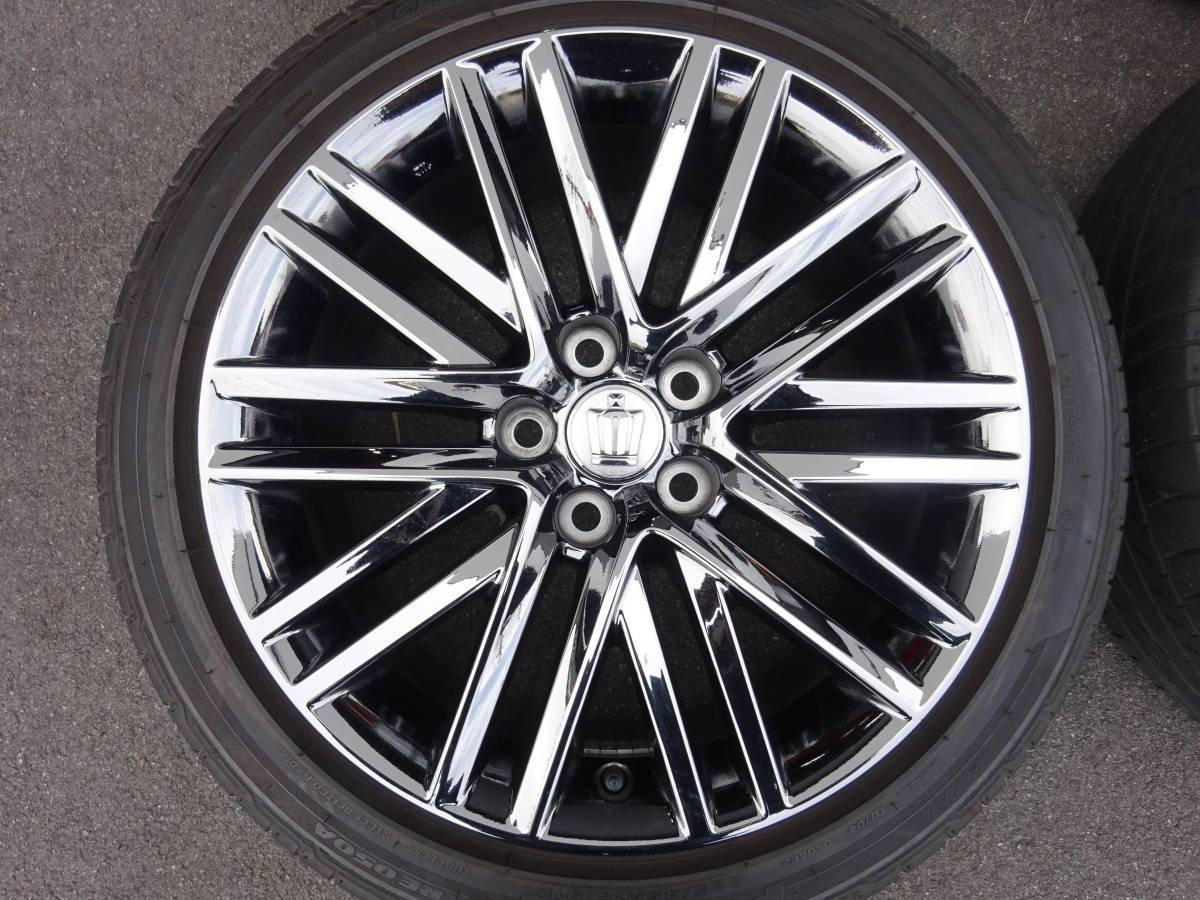 超美品  トヨタ 210 クラウン アスリート 純正 オプション 18インチ 8J +40 スパッタリング  2017年山ありタイヤ付_画像4