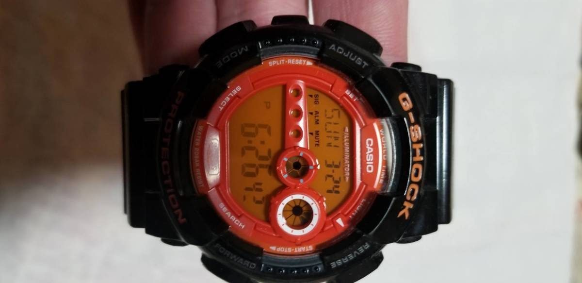 outlet store c5fcd 312a3 CASIO G-SHOCK 3263 GD -100 HC black orange wristwatch : Real ...