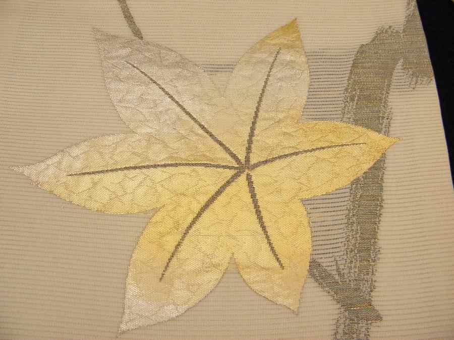 美しい箔の楓