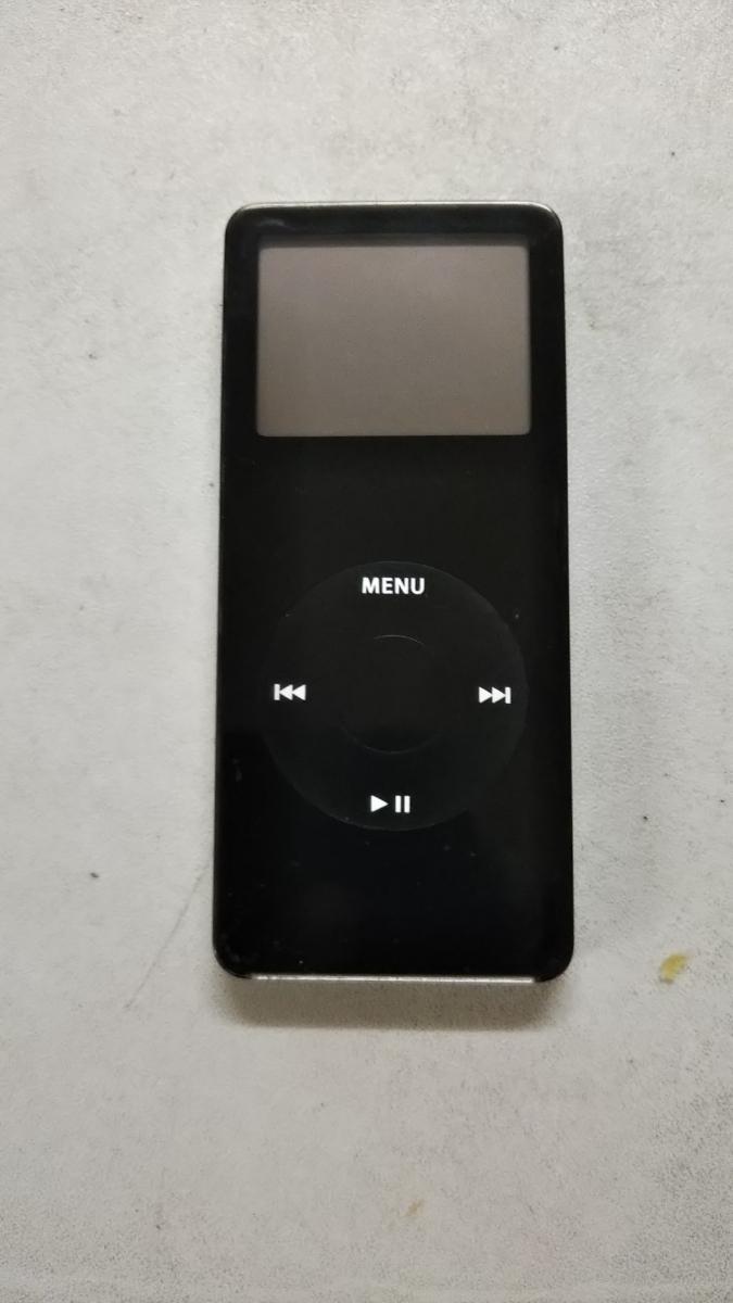 ジャンク ipod nano 初代 ジャンク 黒 ブラック  1GB A1137