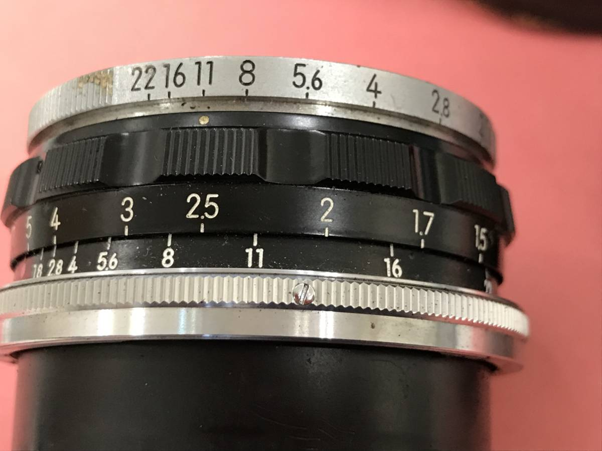 Nikon ニコン レンズ W-NIKKOR C 1:1.8 f=3.5cm 美品_画像3