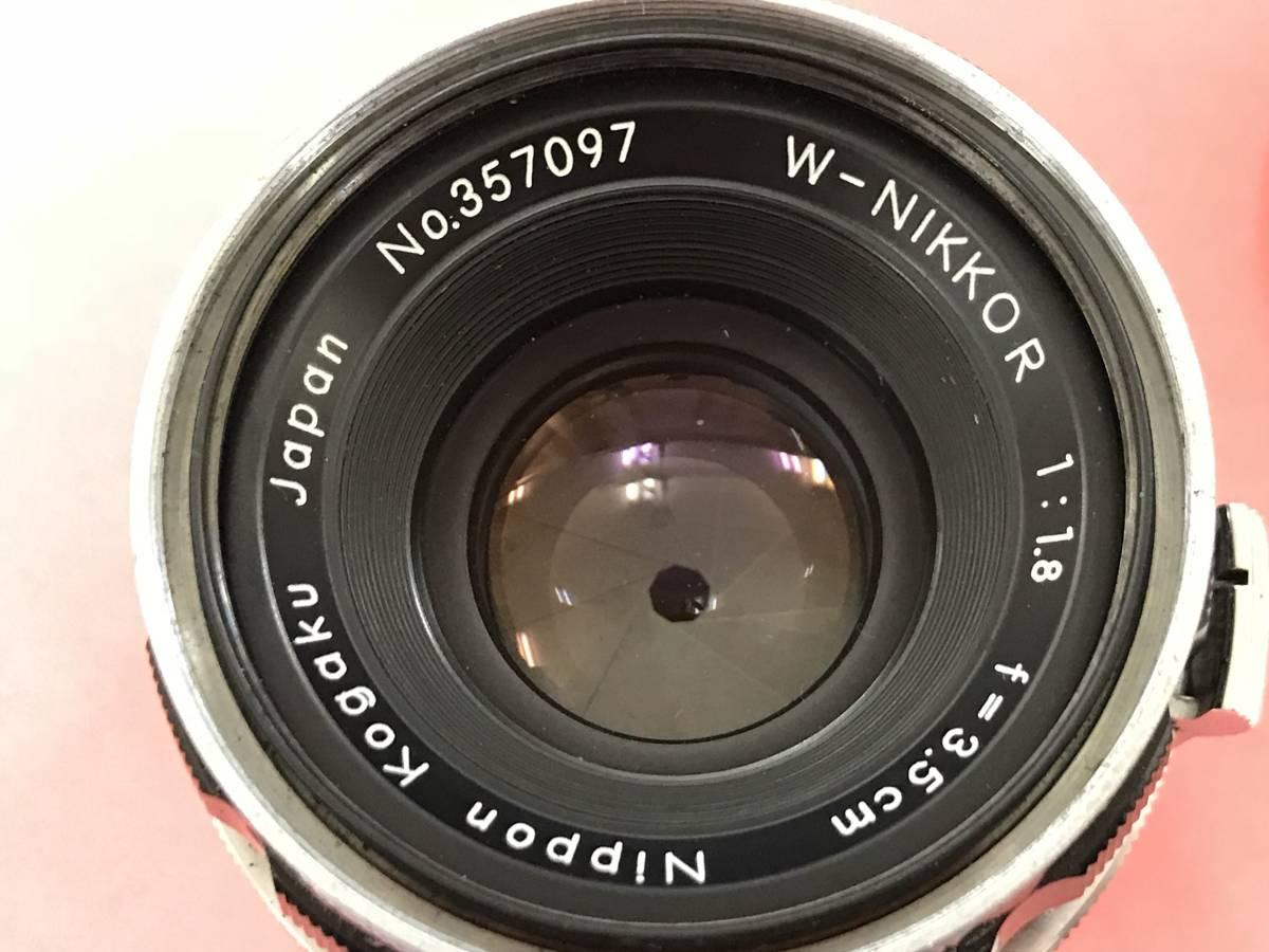 Nikon ニコン レンズ W-NIKKOR C 1:1.8 f=3.5cm 美品_画像5