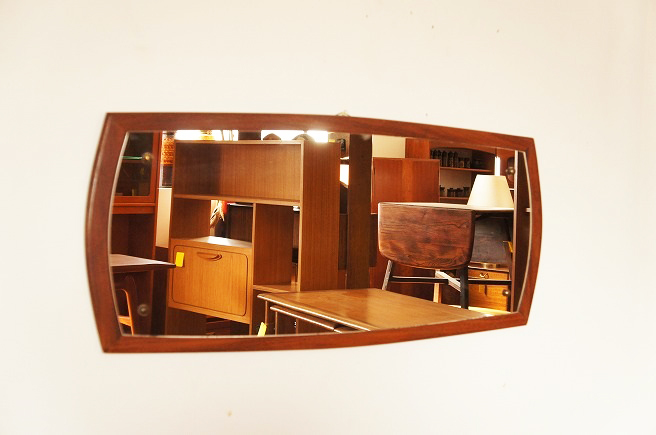 イギリスヴィンテージ チークミラー(鏡)/壁掛け鏡/縦/横/2WAY/ヴィンテージミラー/北欧インテリア/ミッドセンチュリー/ウォールミラー_画像1