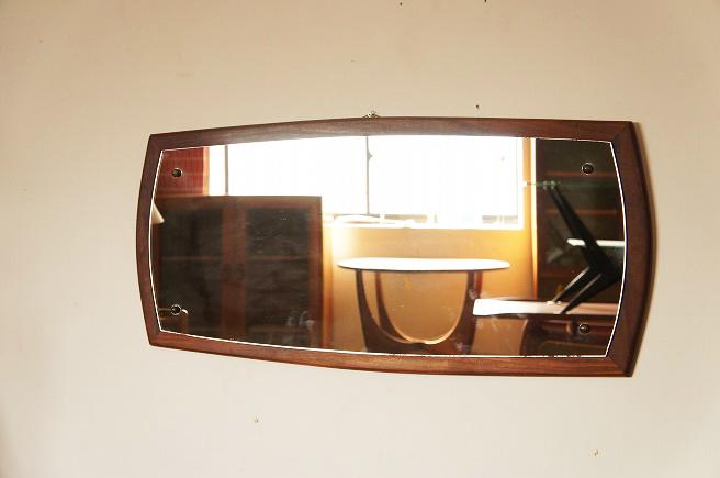 イギリスヴィンテージ チークミラー(鏡)/壁掛け鏡/縦/横/2WAY/ヴィンテージミラー/北欧インテリア/ミッドセンチュリー/ウォールミラー_画像2