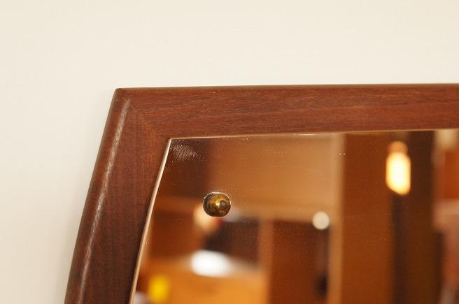 イギリスヴィンテージ チークミラー(鏡)/壁掛け鏡/縦/横/2WAY/ヴィンテージミラー/北欧インテリア/ミッドセンチュリー/ウォールミラー_画像4