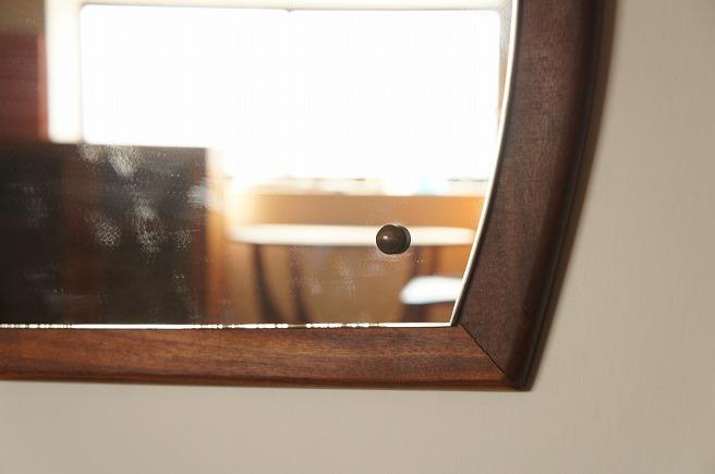 イギリスヴィンテージ チークミラー(鏡)/壁掛け鏡/縦/横/2WAY/ヴィンテージミラー/北欧インテリア/ミッドセンチュリー/ウォールミラー_画像5