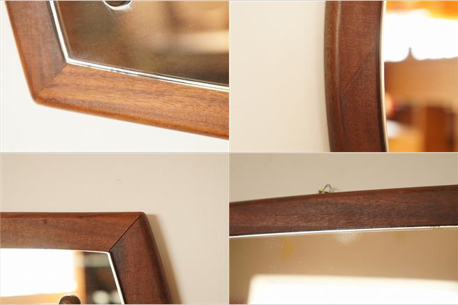 イギリスヴィンテージ チークミラー(鏡)/壁掛け鏡/縦/横/2WAY/ヴィンテージミラー/北欧インテリア/ミッドセンチュリー/ウォールミラー_画像8