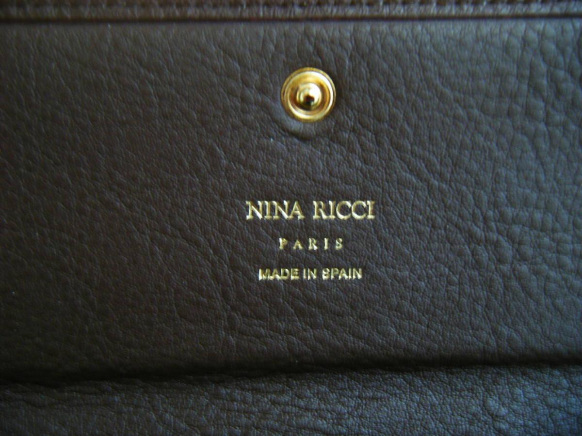 ☆スペイン製 NINA RICCI ニナリッチ 長財布 メンズ 札入れ ウォレット コインケース付(小銭入れ) ブラウン系 未使用品_画像5