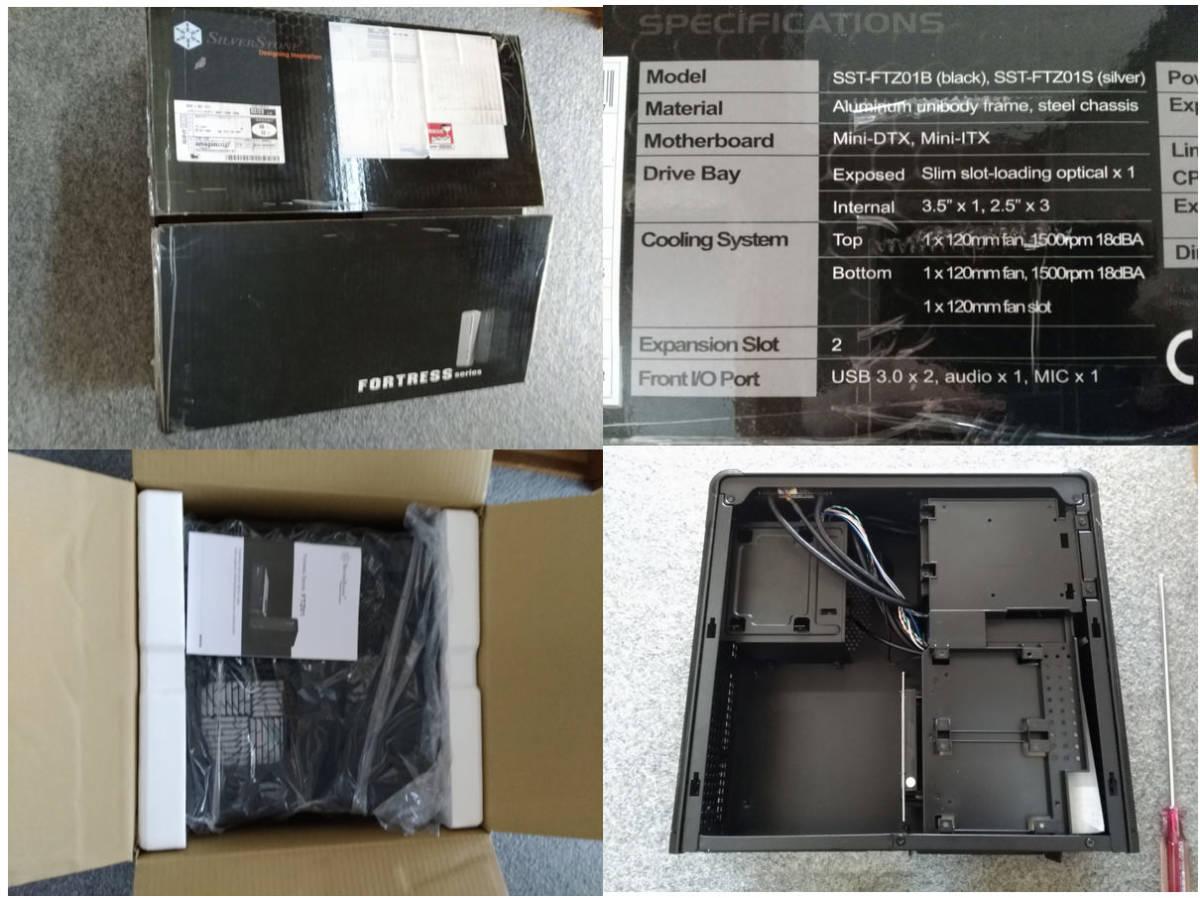 1円~ SilverStone SST-FTZ01B (Mini-ITX スリム itx dtx RVZ01 ML07B ゲーミング PCケース ftz HTPC スチール 光学ドライブ SFX 水冷) _画像10
