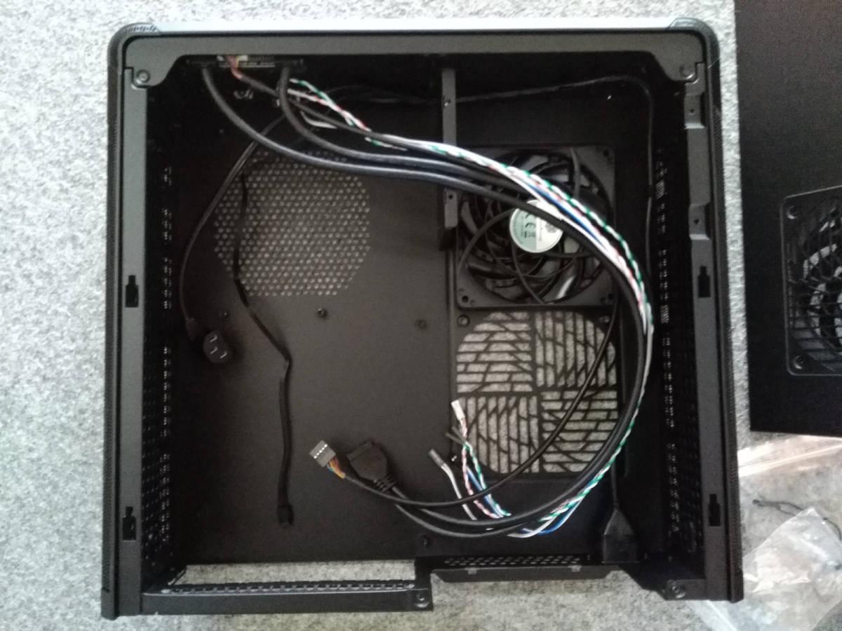 1円~ SilverStone SST-FTZ01B (Mini-ITX スリム itx dtx RVZ01 ML07B ゲーミング PCケース ftz HTPC スチール 光学ドライブ SFX 水冷) _画像9