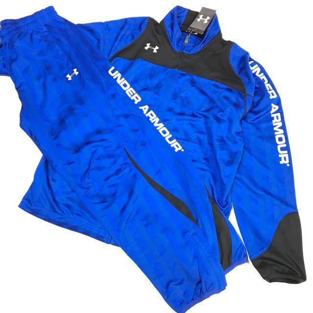 UNDER ARMOUR アンダーアーマー シェイド ウォームアップ ジャケット&パンツ上下セット 青白M 新品