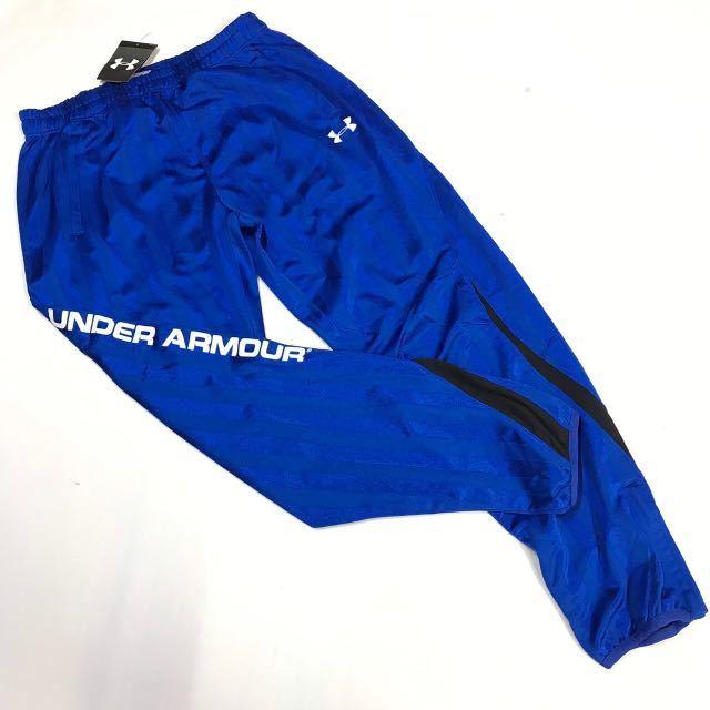 UNDER ARMOUR アンダーアーマー シェイド ウォームアップ ジャケット&パンツ上下セット 青白M 新品_画像3