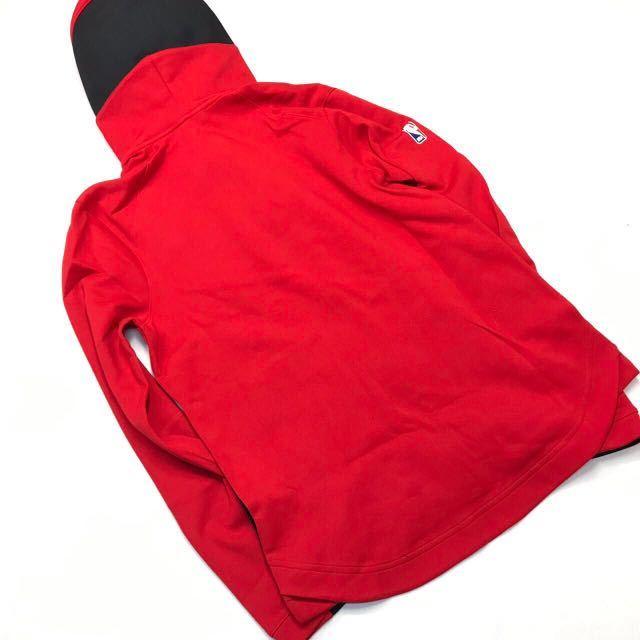 NIKE ナイキ シカゴ・ブルズ ショータイム フルジップフーディー&パンツ上下セット 赤黒 黒 L 新品_画像3