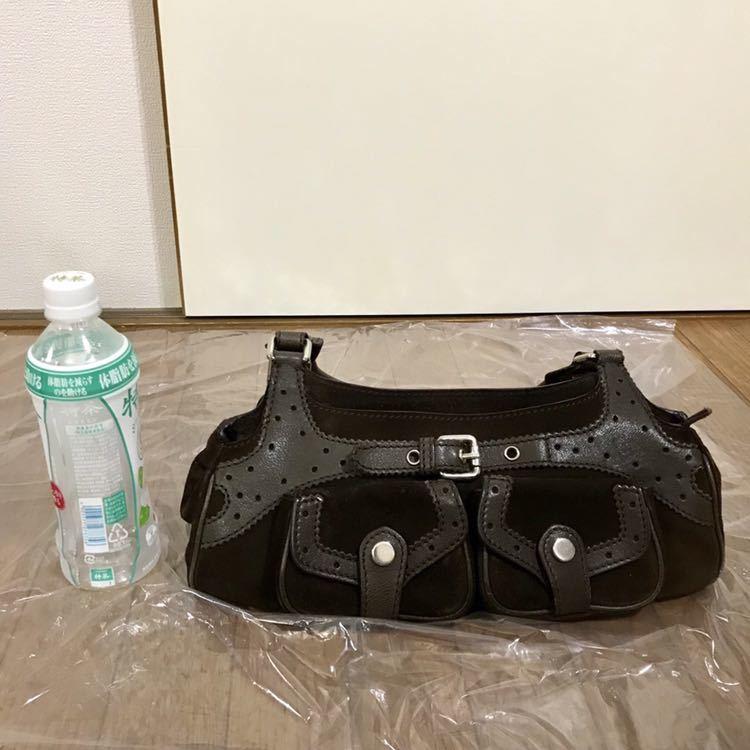 【送料無料】【MAX MARA/マックスマーラ 】茶色 レザーのトートバッグ 保存袋