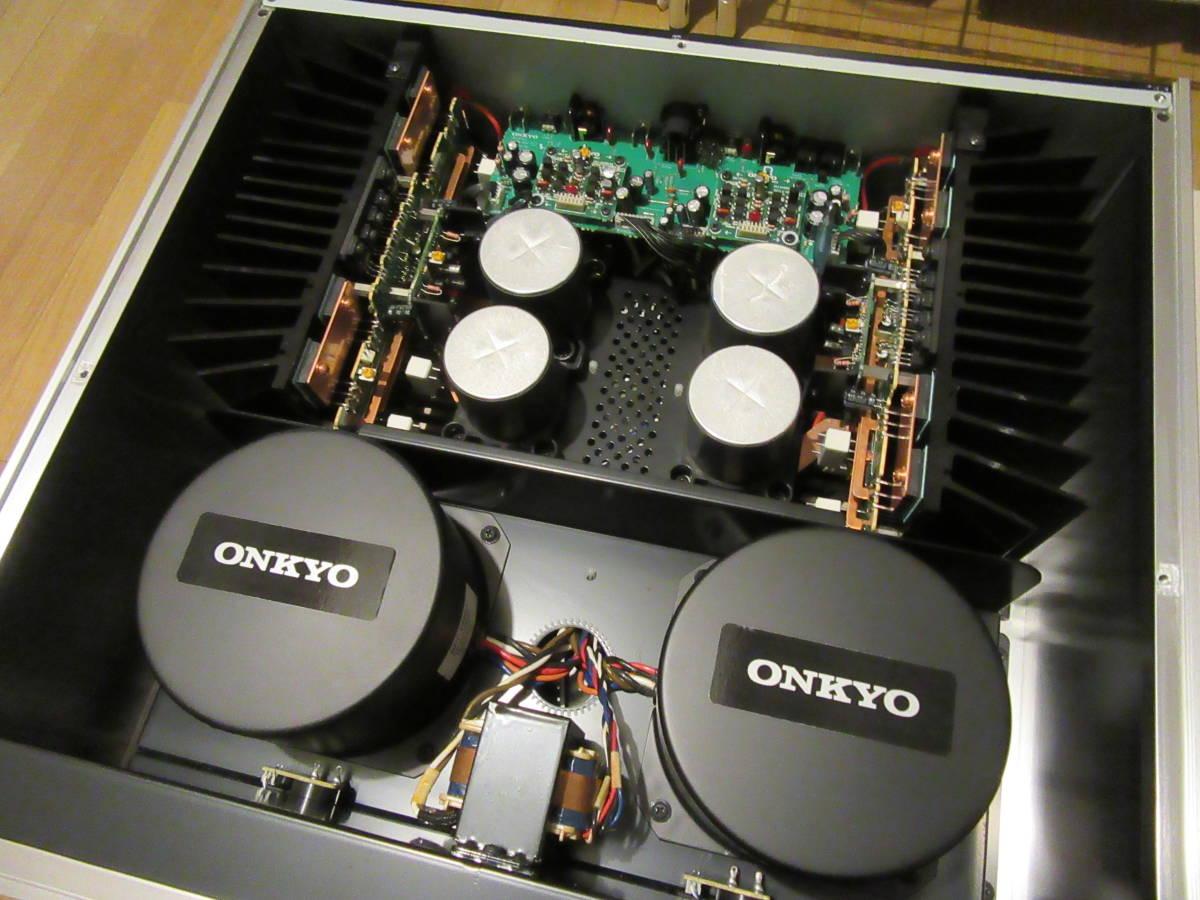 ONKYO reference Hi-Fi M-5000R 2ch パワーアンプ 禁煙環境 ワンオーナー 中古品 ケーブル 取説 元箱付き 内部清掃 メンテナンス施行済み_画像10