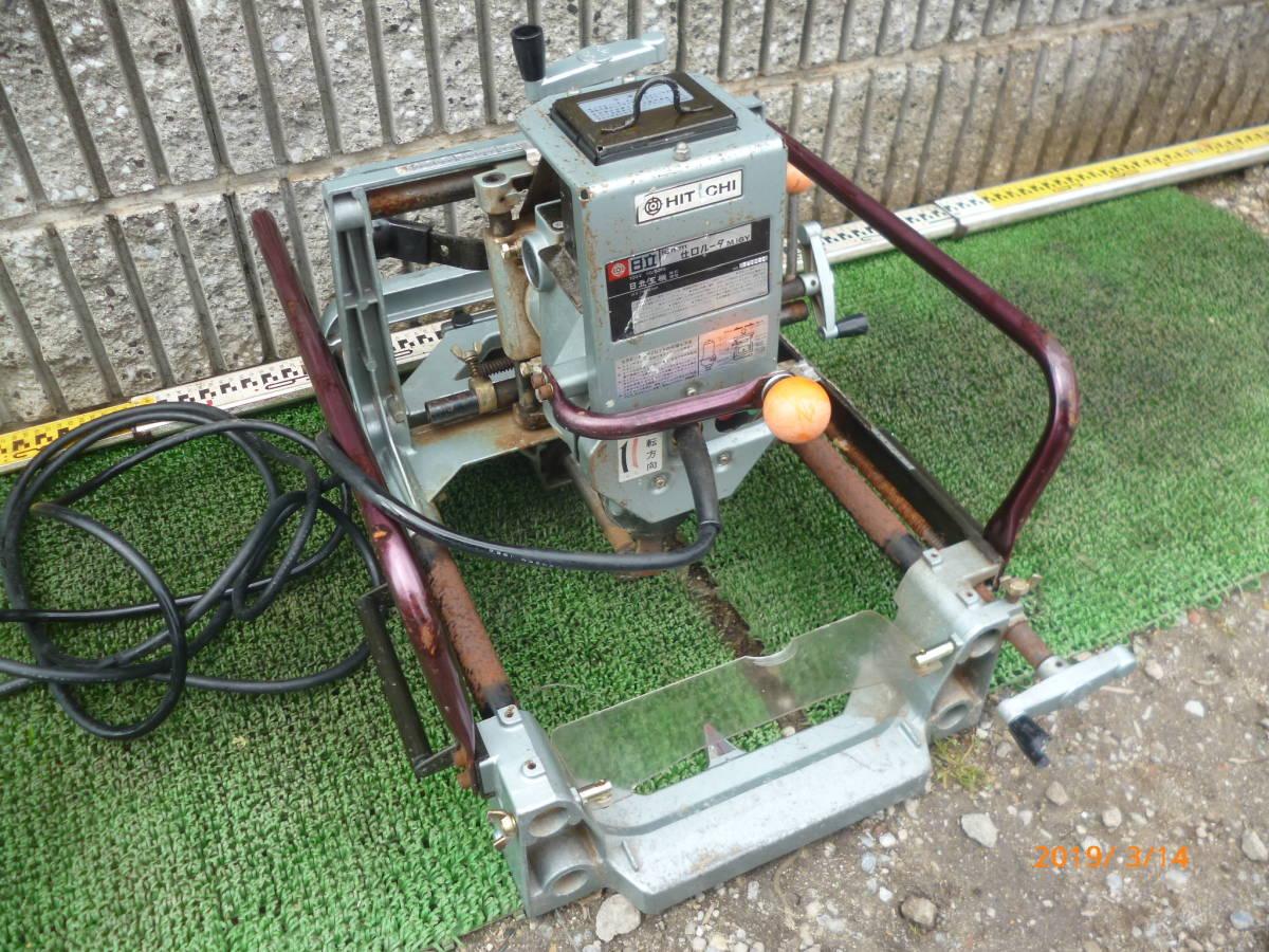 日立工機 HITACHI 日立 16mm M16Y 仕口ルーター 仕口ルータ ルータ ルーター 100V 50/60Hz 15A 木工 木材 大入 大工 _画像1