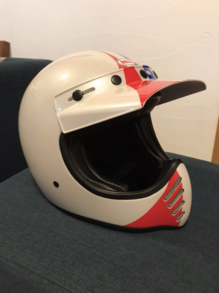 【新品】Bell Moto 3 Ace Cafe GP 66 White Blue Red Off Road Motorcycle Helmet_画像2