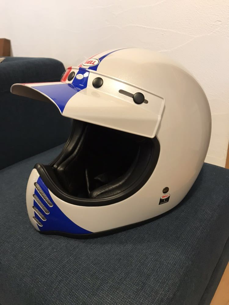 【新品】Bell Moto 3 Ace Cafe GP 66 White Blue Red Off Road Motorcycle Helmet