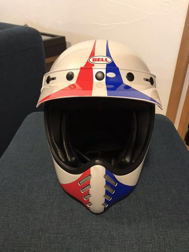 【新品】Bell Moto 3 Ace Cafe GP 66 White Blue Red Off Road Motorcycle Helmet_画像3