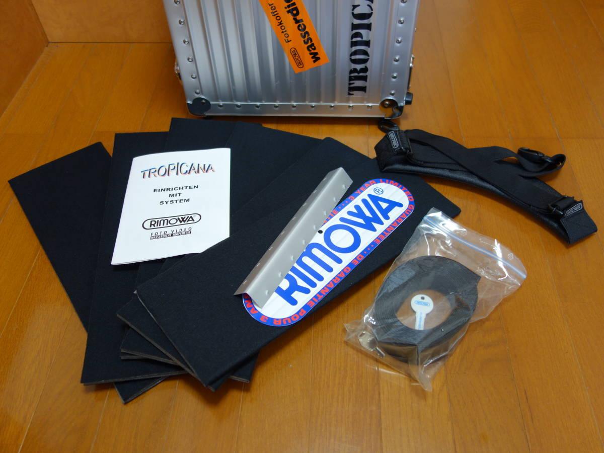 RIMOWA リモワ トロピカーナ 2輪 青ロゴ 機内持ち込み可能サイズ 370.07.00.2 美品_画像7