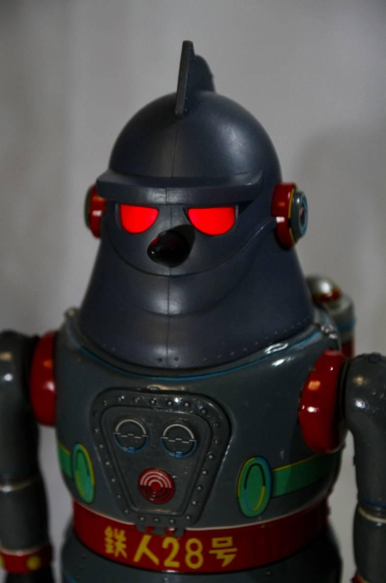 野村トーイ 鉄人28号 ブリキ ロボット玩具 「№2タイプ」当時物 復刻では無い 箱有_画像10