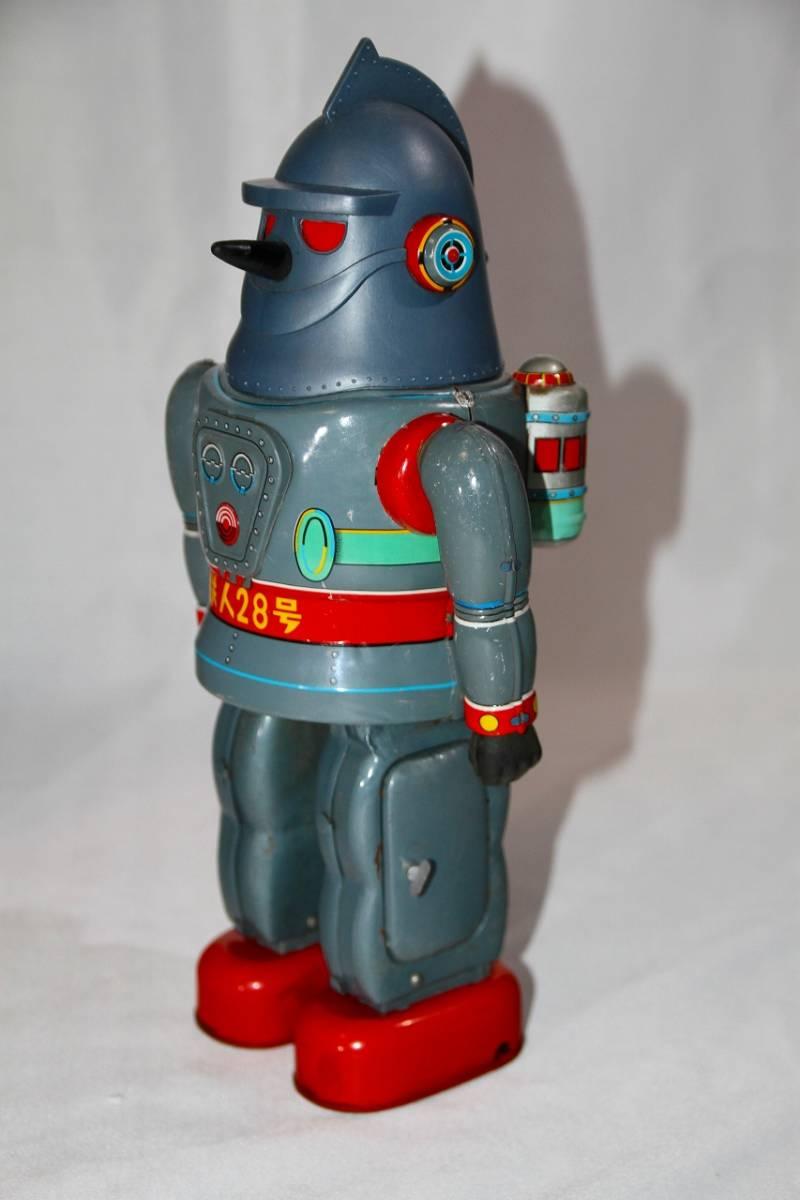野村トーイ 鉄人28号 ブリキ ロボット玩具 「№2タイプ」当時物 復刻では無い 箱有_画像3