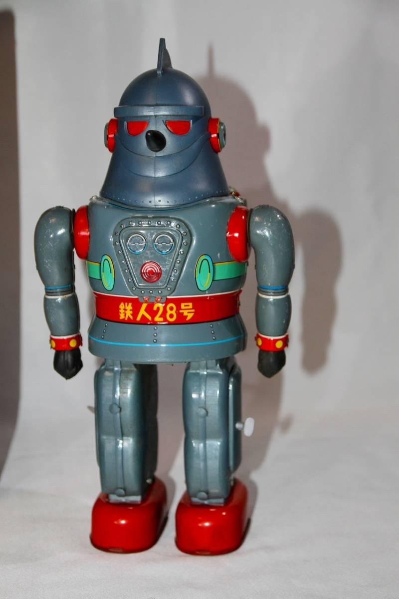 野村トーイ 鉄人28号 ブリキ ロボット玩具 「№2タイプ」当時物 復刻では無い 箱有_画像2