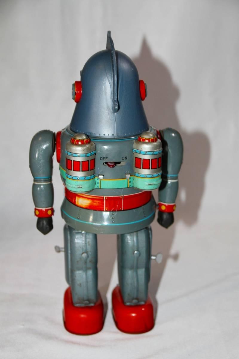 野村トーイ 鉄人28号 ブリキ ロボット玩具 「№2タイプ」当時物 復刻では無い 箱有_画像4