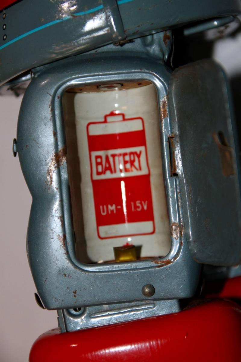 野村トーイ 鉄人28号 ブリキ ロボット玩具 「№2タイプ」当時物 復刻では無い 箱有_画像9