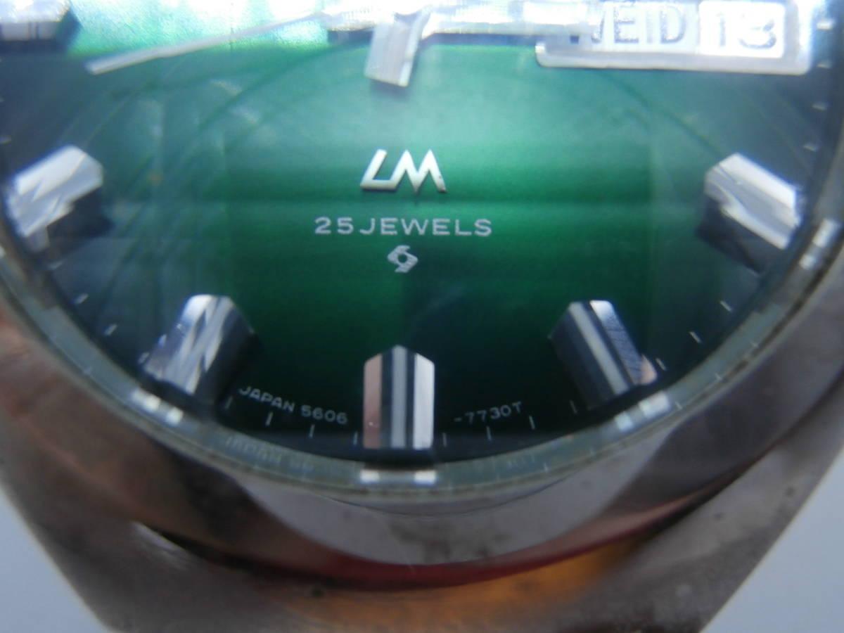 セイコー ロードマチック LM!GS、KS グランド&キングセイコーと基本性能は同等。70年代の雰囲気 カラー文字盤 カットガラス_画像5