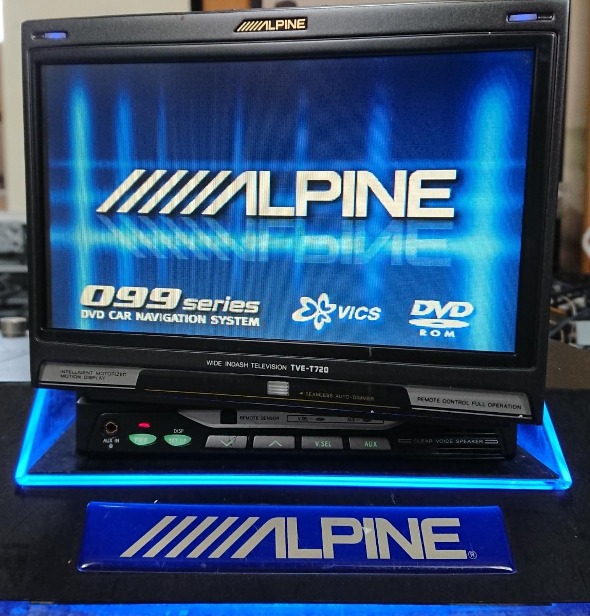 アルパイン 7インチ ワイドインダッシュテレビ TVE-T720 FMトランスミッター内蔵 左右首ふり動作 多少訳あり ALPINE _画像2