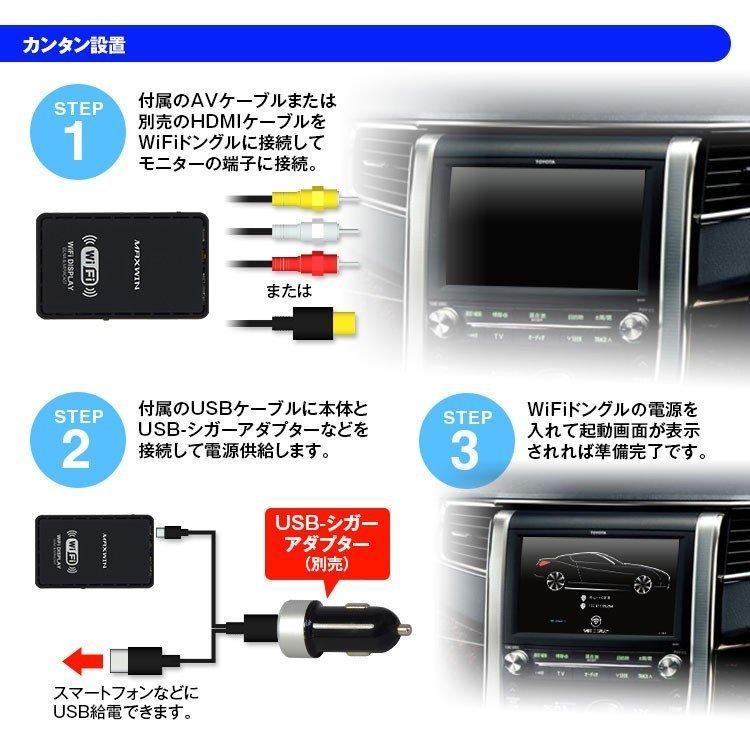 1円 wifi ドングル スマホ画面をナビ表示 車載用 iPhone android ミラーリング Miracast Airplay_画像3