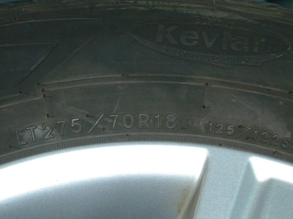 F32 送料込 275/70R18 サマータイヤ&ホイール 4本セット トヨタ純正 ランクル 100 200 ランドクルーザー マッド バリ溝_画像8