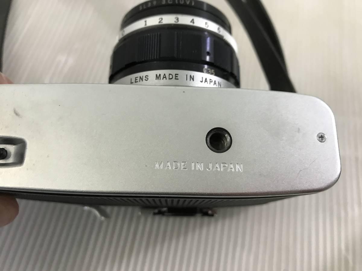 オリンパス フィルムカメラ PEN-F 1:1.8 f=38mm 青良03 0314_画像6