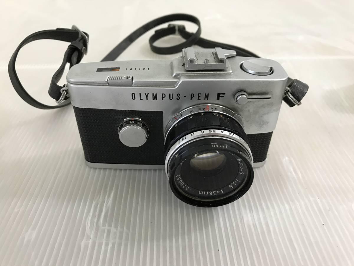 オリンパス フィルムカメラ PEN-F 1:1.8 f=38mm 青良03 0314_画像2
