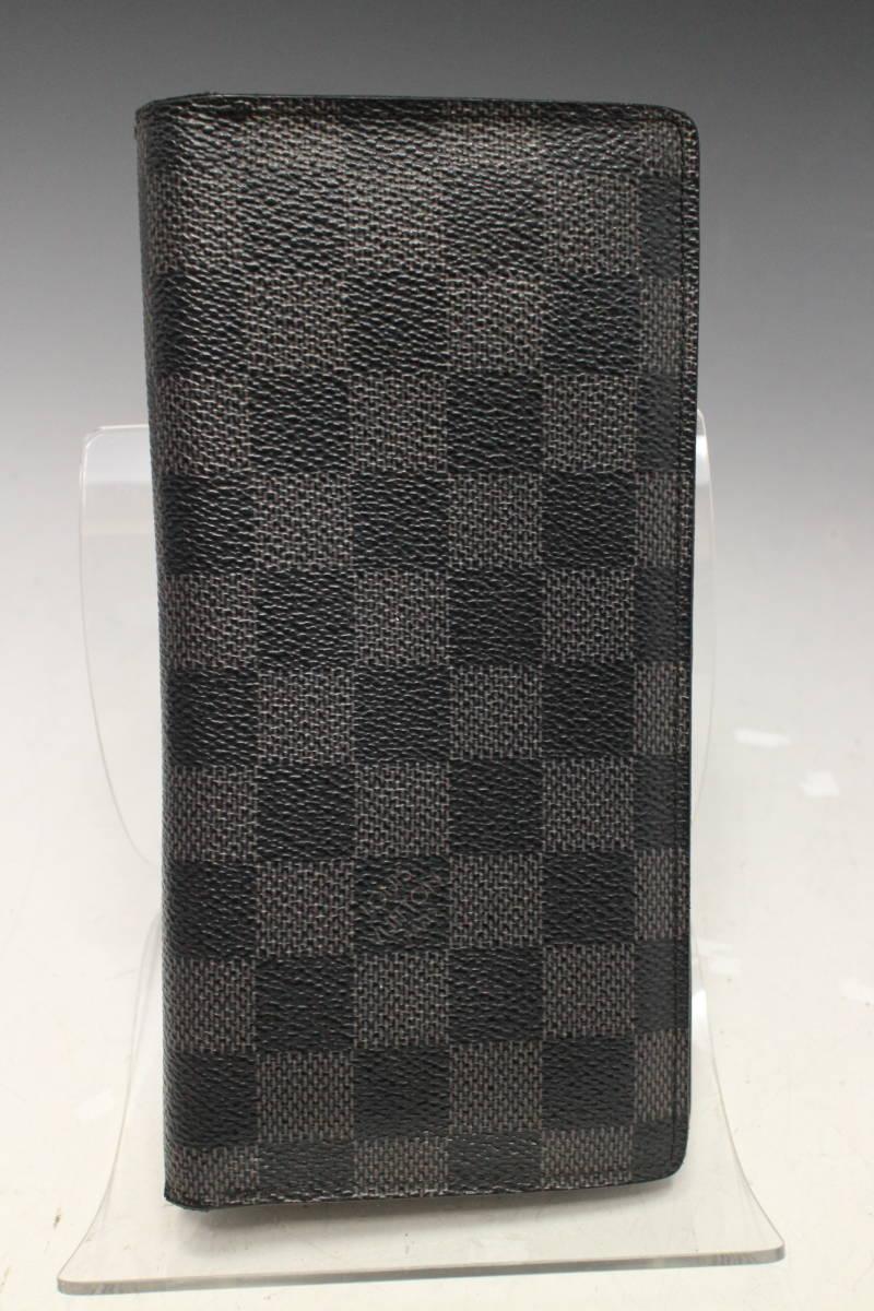 e6e591851e87 代購代標第一品牌- 樂淘letao - 1円~【ルイ・ヴィトン本物】ダミエグラフィット/ポルトフォイユ・ブラザ/二つ折り長財布 /メンズ/N62665/黒×グレー【X768N
