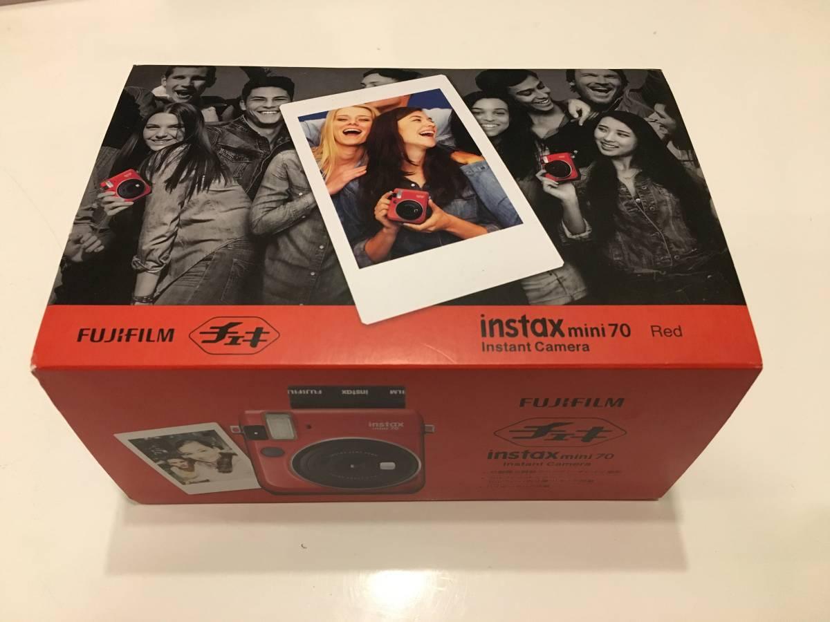 ★新品未使用★FUJIFILM インスタントカメラ チェキ instax mini 70 レッド INS MINI 70N RED