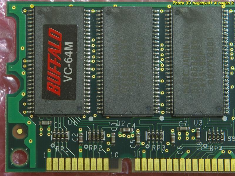 ★即決★ BUFFALO VC64M 、( VC SDRAM 168Pin DIMM 64M ) 、返品不可、動作確認なしジャンク扱い_画像2