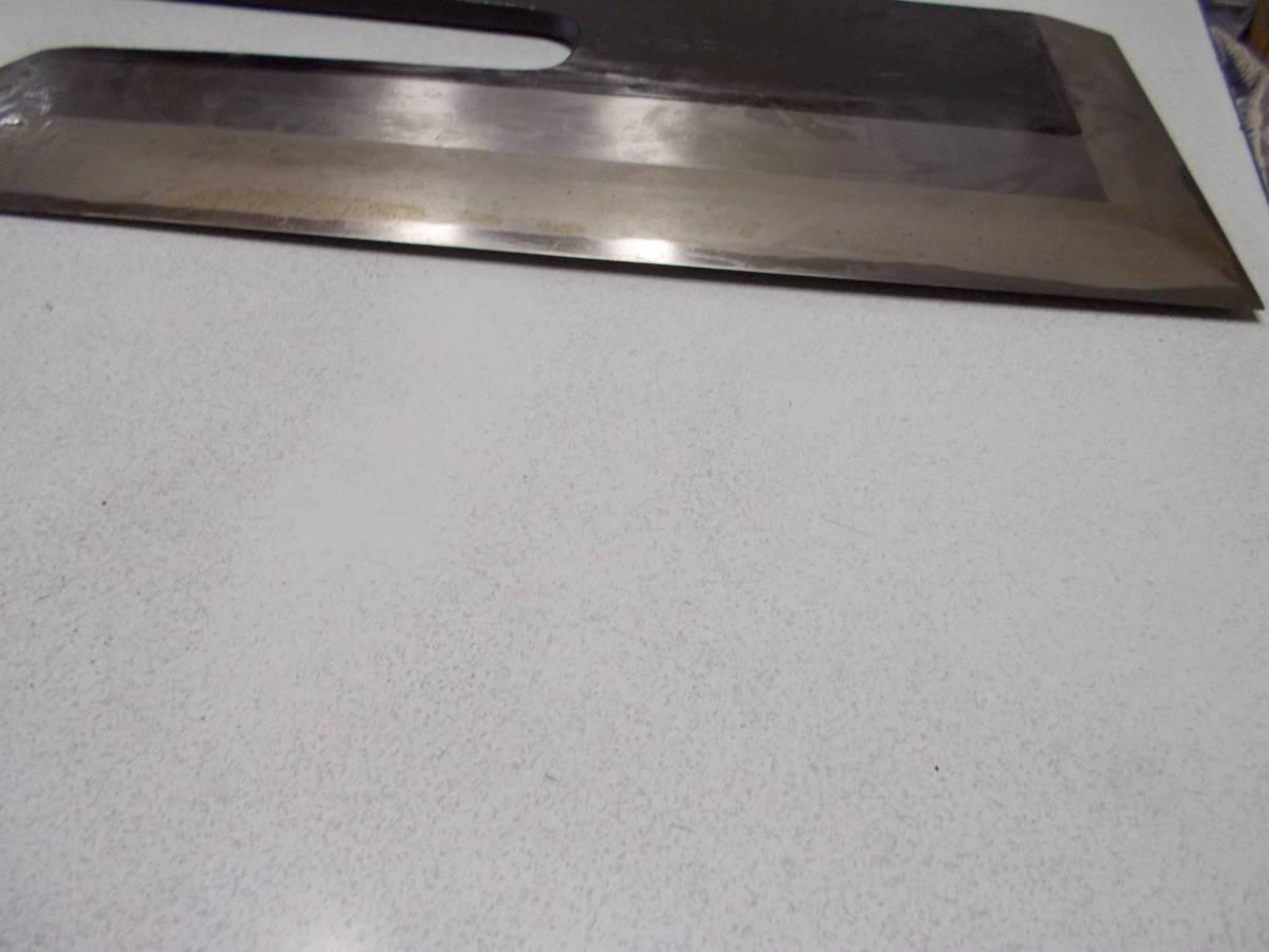 正本総本店 本霞・玉白鋼 ソバ切り庖丁 30cm  訳アリ _反り有りましたが
