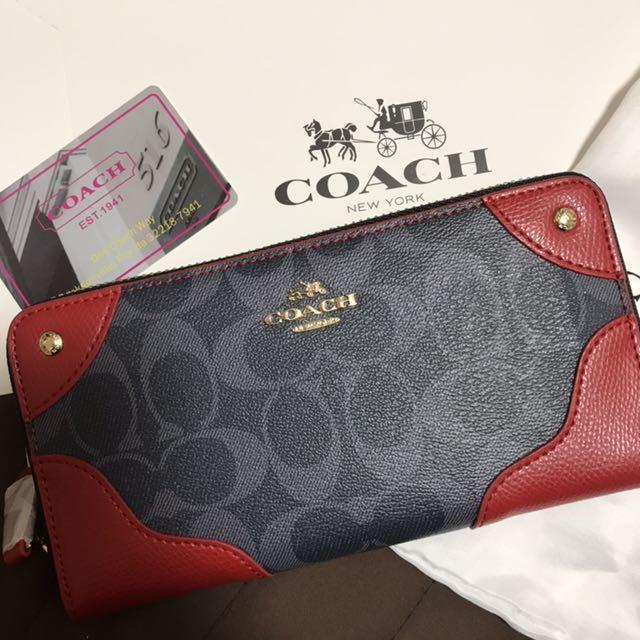 e282da28ea39 代購代標第一品牌- 樂淘letao - コーチ長財布新品レッド赤ネイビー紺