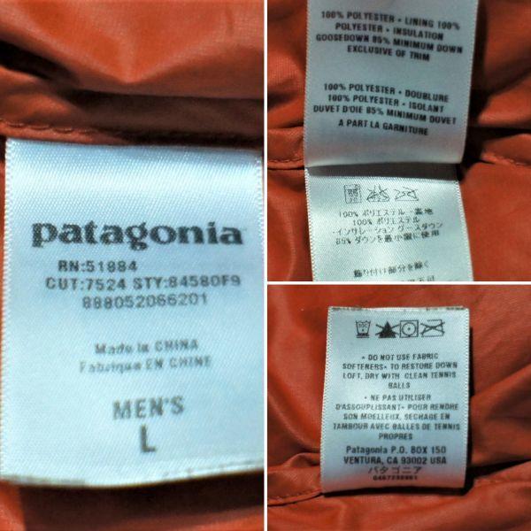 パタゴニア F9 フィッツロイ ダウンジャケット オレンジ L/patagonia_画像9