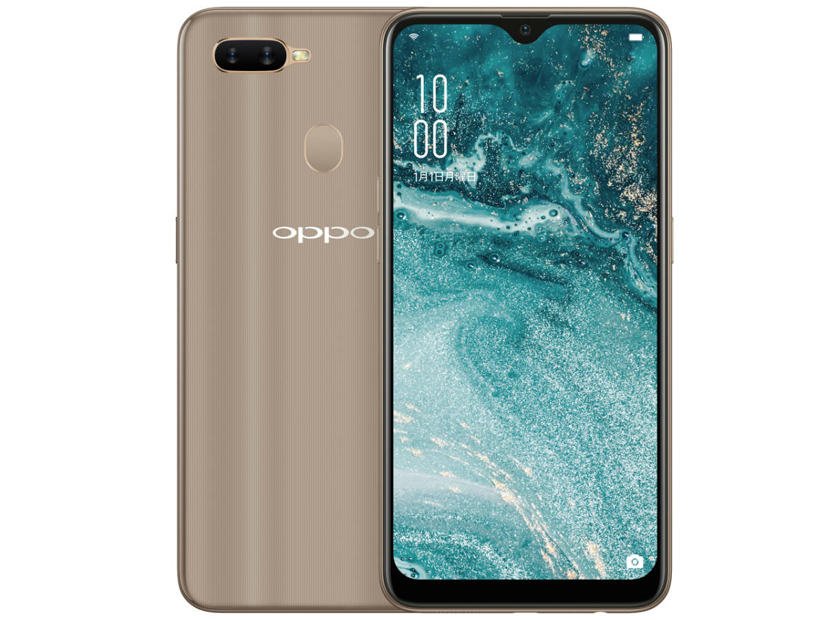 OPPO AX7 CPH1903 SIMフリー [ゴールド] ROM 64GB RAM 4GB 新品 6.2型液晶を搭載したSIMフリースマートフォン 2018年冬モデル_画像1