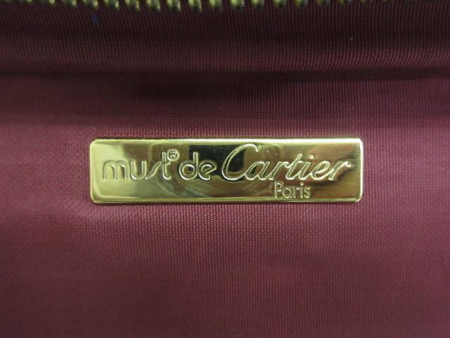 本物■極美品■Cartier■カルティエ■マスト■レザースーツケース■ハンドバッグ■40万■w3w24g_画像8