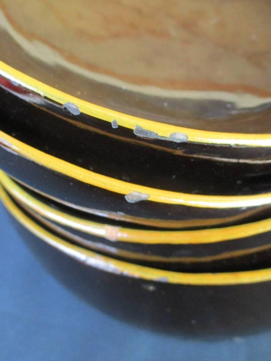 蔵の中からひょっこりと!● 蓋付菓子碗 煮物椀 吸物碗 10客揃 木箱入り *実物は画像よりも黒色に近いです。ご活用下さい。_画像8
