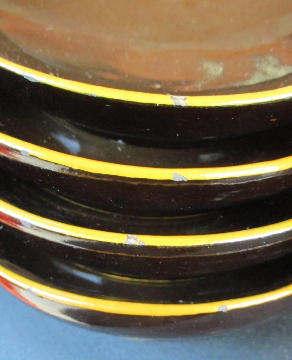 蔵の中からひょっこりと!● 蓋付菓子碗 煮物椀 吸物碗 10客揃 木箱入り *実物は画像よりも黒色に近いです。ご活用下さい。_画像7