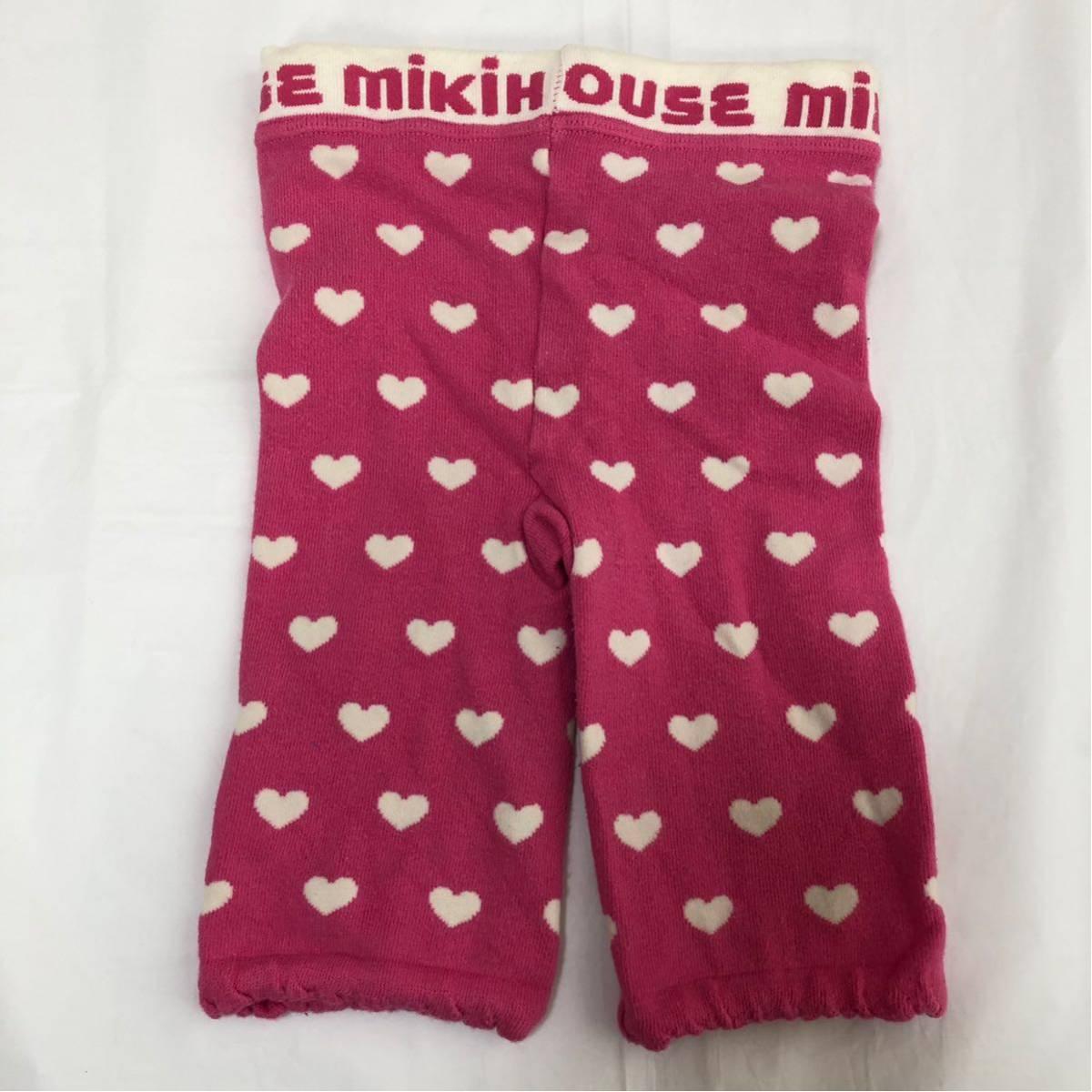 ミキハウス MIKIHOUSE レギンス 100 女の子 ピンク 送料140円 うさこ ハート ズボン パンツ スパッツ かわいい ベビー キッズ 子供服_画像6